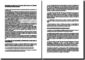 Commentaire de l'arrêt du 16 novembre 2010 rendu par la Chambre commerciale de la Cour de cassation : la responsabilité d'un établissement de crédit