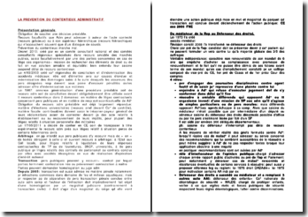 La prévention du contentieux administratif