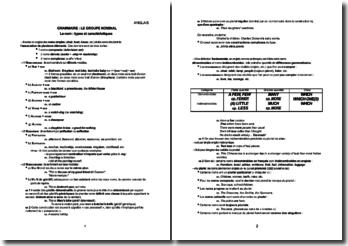 Le groupe nominal en anglais : le nom, types et caractéristiques