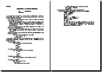 La phrase complexe en anglais : la proposition infinitive