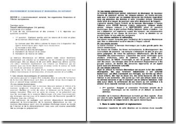 L'environnement notarial, les organismes financiers et l'Union européenne