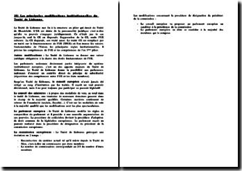 Les principales modifications institutionnelles du Traité de Lisbonne