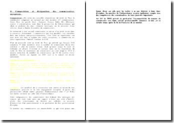 Composition et désignation des commissaires européens