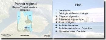 La région Touristique de la Gaspésie