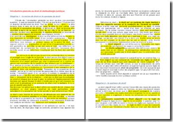 Le droit et méthodologie juridique