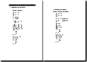 Correction d'un TP sur l'équation du 1er degré à 2 inconnues