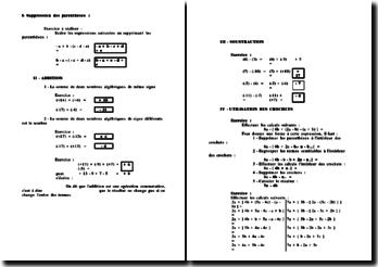 Correction d'un TP sur les calculs algébriques