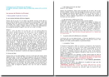 L'émergence et l'affirmation du Principat : un régime politique original dans la Rome des Césars (44 av JC, 69 ap JC)
