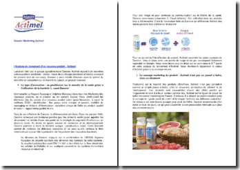 Analyse du lancement d'un nouveau produit : Actimel