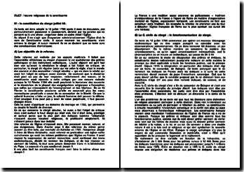 La constitution du clergé juillet 1790