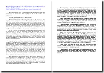 Argumentation en faveur de la légalisation de l'euthanasie à la manière de Victor Hugo
