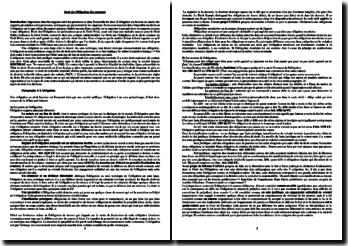 Cours de droit des obligations : les contrats