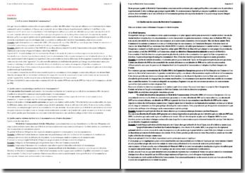 Cours de Droit de la Consommation : les Contrats de consommation et la réglementation du Marché