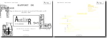 Stage de découverte du monde du travail à l'Atelier 1+1 SMC architecture