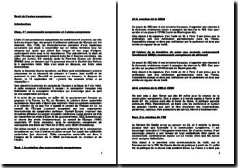 Droit de la Communauté européenne et l'Union européenne