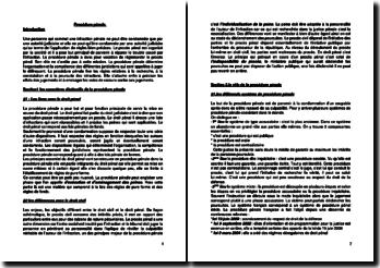 Les éléments directeurs de la procédure pénale et les différentes phases du procès pénal