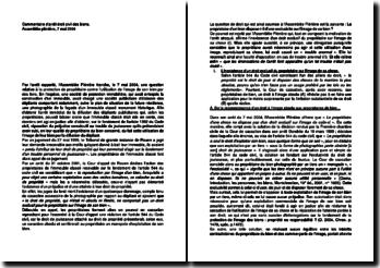Commentaire d'arrêt de l'Assemblée plénière de la Cour de cassation du 7 mai 2004 : la protection du propriétaire contre l'utilisation de l'image de son bien par des tiers