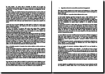 Commentaire d'arrêt de la Cour de cassation en Assemblée plénière le 29 octobre 2004 : la licéité de la cause