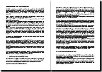 Commentaire d'arrêt de la Chambre commerciale de la Cour de cassation du 23 octobre 2007 : La vileté du prix
