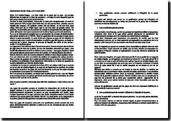 Commentaire d'arrêt de la Chambre criminelle de la Cour de cassation du 6 mars 2012 : la peine plancher