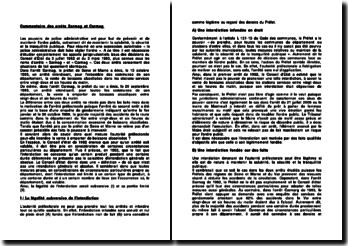 Commentaire d'arrêts du Conseil d'État du 3 juillet 1992 et du 3 mars 1993 : les arrêts « Sarmag » et « Carmag »