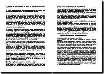Le travail de représentation et choix des répertoires d'actions collectives