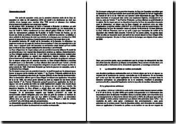 Commentaire d'arrêt de la Première Chambre civile de la Cour de cassation du 30 septembre 2010 : la rétroactivité en matière contractuelle