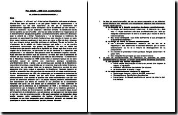 Le bloc de constitutionnalité (plan détaillé)