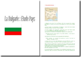 Etude d'un pays : la Bulgarie