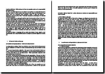 Commentaire d'arrêt de la Cour de cassation du 28 février 1996 : la responsabilité de l'enfant mineur