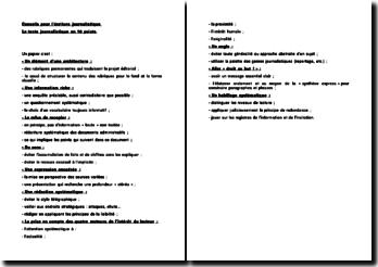 Conseils pour l'écriture journalistique : Le texte journalistique en 10 points