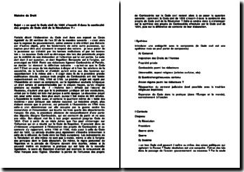 En quoi le Code civil de 1804 s'inscrit-il dans la continuité des projets de Code civil de la Révolution ?