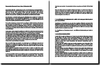 Commentaire d'arrêt de la 3e Chambre civile de la Cour de cassation du 15 décembre 2010 : la vileté du prix