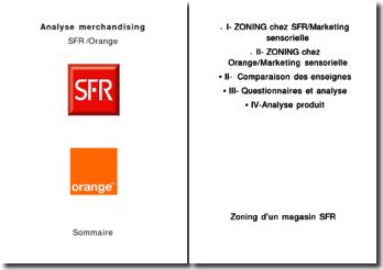 Analyse merchandising de SFR et Orange