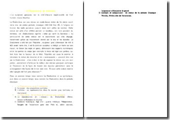 Le Diadumène de Polyclète (plan détaillé)