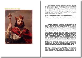 Clausule sur l'onction du roi Pépin