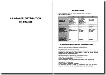 La logistique de distribution : La grande distribution en France