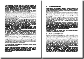 Commentaire d'arrêt d'assemblée du Conseil d'État du 10 juillet 1996 : le recours pour excès de pouvoir
