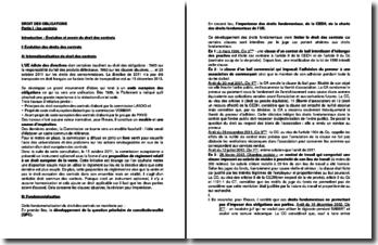 Droit des obligations : les contrats, les quasi-contrats et le droit de la preuve