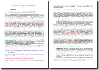 Droit de l'Union européenne : les principes structurants, le système normatif et le contentieux de l'Union
