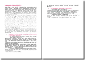 Commentaire de la résolution 1973 du Conseil de sécurité des Nations unies