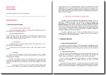 Les évolutions récentes du droit des sociétés françaises