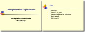 Management des Organisations : Management des Hommes « Coaching »