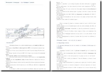 Management stratégique : le cas de l'Olympique Lyonnais