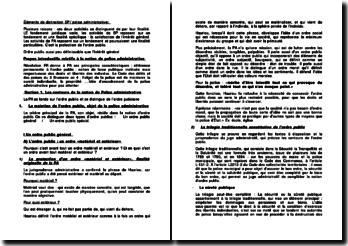 Éléments de distinction service public / police administrative