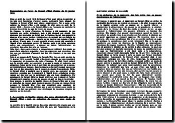 Commentaire de l'arrêt du Conseil d'Etat du 14 janvier 1916 : le recours pour excès de pouvoir