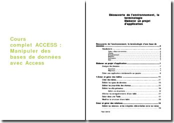 Cours complet ACCESS : Manipuler des bases de données avec Access