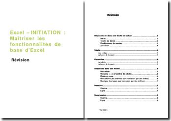 Excel - initiation : révision