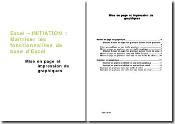 Excel - initiation : Mise en page et impression de graphiques