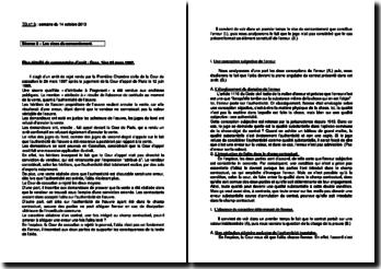 Commentaire d'arrêt de la Première Chambre civile de la Cour de cassation du 24 mars 1987 : les vices du consentement